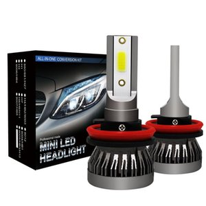 2PCS H11 Car LED Headlight Bulbs H1 H4 H7 H11 9005 9006 9007 120W 26000LM 6000K 12V Car Auto Mini Headlamp COB Fog LED Lights
