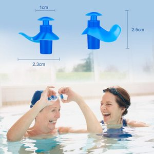 Silicone Swim Ear Plugs Adults with Case Waterproof Earplugs for Swimming Diving Surfing Bathing Showering Water Sports Set