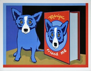 George Rodrigue Blue Dog ami Me Home Décoration Peinture à l'huile sur toile Wall Art Canvas Photos décorations 200912