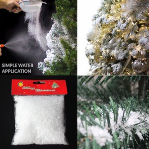 70g Snowflake Powder White Snow Christmas Tree Decorations Fluffy Fake Snowflakes Party Wedding Festival Christmas Decoration Supplies