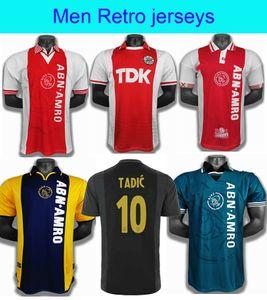 00 01Ajax Red Retro Edition Soccer jerseys 94 95 Ajax LITMANEN KLUIVERT DE BOER SEEDORF DAVIDS 1990 97 98 Football shirt uniform