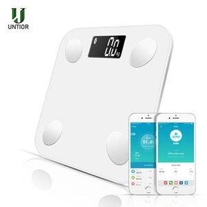 UNTIOR grasa corporal Escala piso científica electrónica inteligente Peso LED Digital Báscula de baño Equilibrio Bluetooth APP Android IOS