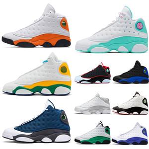 Commercio all'ingrosso Jumpman 13 13s Pattini di pallacanestro del Mens Black Cat rasoGiordaniaAria Soar verde Starfish delle donne degli uomini Retro Sport Sneakers Siz