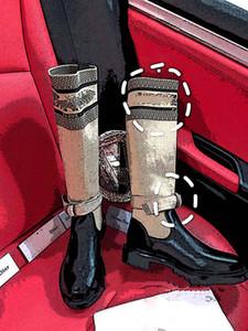 Dior Boots New Paris passarela outono inverno nova coleção cáqui meias de couro Weave botas cavaleiro senhora baixa salto solas grossas de couro curto botas 35-40