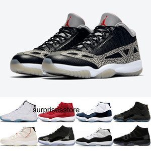 Jumpman 11 Black Cement Low hight IE Mens Womens Basketball Shoes Classic Designer Concord Bred Cool Grey Space Jam Big Boy Outdoor Sneakers