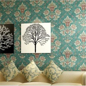 WELLYU Continental 3D embossed non-woven wallpaper papel de parede Damascus wallpaper living room bedroom backdrop