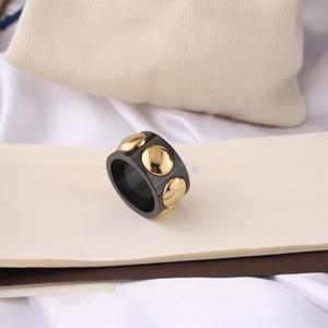 Высокие Производители качества 2020 Лучший раунд Широкий кольцо моды титана стали Шарм кольцо Сплошной цвет Wild кольцо Разнообразие стилей письма Jewe