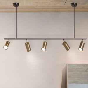 Gold Lampshade Pendant Lights LED Hanging Spotlight Pendant Lamp Nordic Design dinning room metal Pendant Lighting luminaire