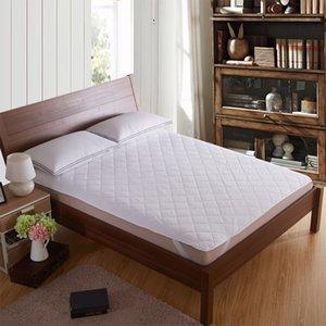 Coprimaterasso Pinze cotone trapuntato materasso Toppers bianco per hotel a 200cmx200cm-200gsm