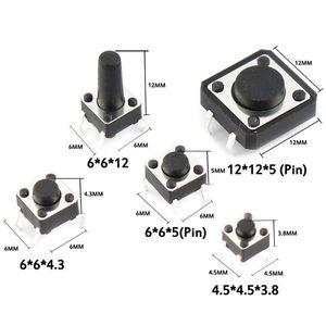 250pcs 25 tailles assorties Micro Bouton poussoir Tact bouton de réinitialisation Mini feuille commutateur DIP SMD 2 * 4 * 3 6 4 * 4 6 * 6 voiture