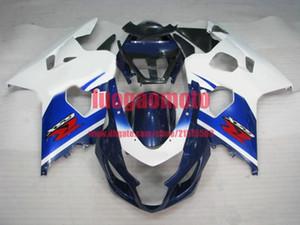 Кузовной обтекатель Комплект для Suzuki белого BLK хорошего GSXR 600 750 GSXR600 GSXR750 K4 04 05 2004 2005 Матового черного ABS Injection Мотоцикла телесного
