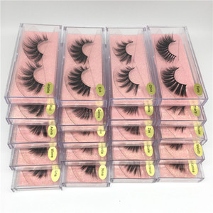 25 styles mink mink cils oeil lash extension false cils doux naturel épais de faux cils d'oeil de la bande complète vison yeux yeux enfants outils de beauté