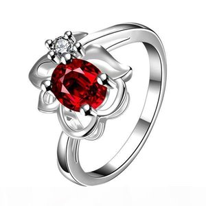 Shaped wings digital red gemstone 925 silver ring GTGR4,high grade sterling silver ring 10 pieces mixed style