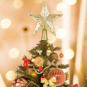 2021 árbol de Navidad de la estrella Topper LED superior de la estrella del copo de nieve del proyector del árbol de navidad decoración de vacaciones de Navidad del partido fuera de la Florida