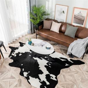 2020 nuova mucca nero bianco finto zebra pelle bovina tappeto Big Size Brown bianco del cuoio artificiale striscia naturale Cowskin Mat