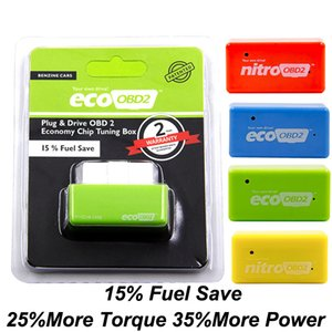 Nitro Eco OBD2 Economy Chip Tuning Box OBD Car Fuel Saver More Power Eco OBD2 for Benzine Diesel Cars Fuel Saving 15% Plug Drive