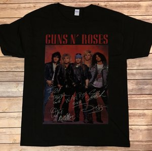 Dettagli su New ~ Guns N Roses Axel Rose Slash T-shirt autografata chitarra firmata