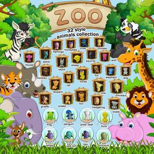 Distributore automatico della capsula di plastica del giocattolo Twisting giocattoli in PVC Mini Animali figura 3D per il commercio all'ingrosso Collection