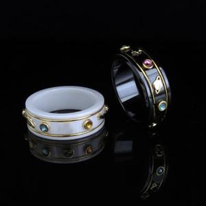 Couple Bague Fashion Simple Letter Bague Meilleure vente de matières en céramique de haute qualité Bague Fashion Bijoux