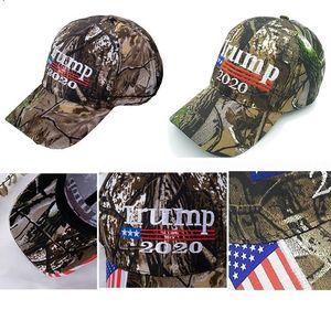 Yeni Kamuflaj Donald Trump 2020 Şapka Makyaj Amerika Büyük MAGA Kadınlar DHA745 için ABD Bayrağı 3D Nakış Harf Kamuflaj Erkek beyzbol Cap Caps
