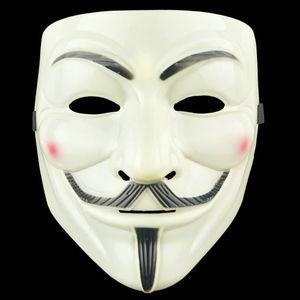 Halloween Horror Grimassenschablone aus Kunststoff V -Vendetta Masken Full Face Male Street Dance Kostüm-Partei-Rolle Cosplay Atmosphäre Props AAD1966