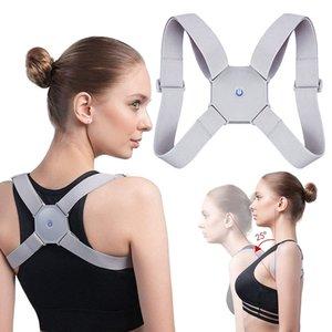 Adjustable Smart Back Posture Corrector Intelligent Upper Back Brace Clavicle Support Men Women Trainer Correction Pain Relief