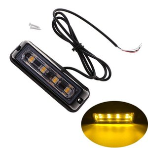 4 LED Vehicle Emergency flashing Light Beacon Car Truck Front Deck Grille Strobe Light Warning signal lamp Head 12V 24V
