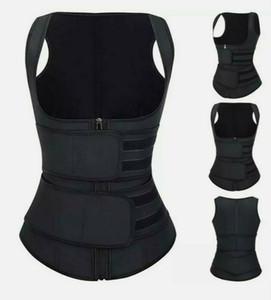 Premium-Waist Trainer Vest Neopren Doppel-Gurt-Taillen-Korsett Cincher Trimmer-Gürtel Rückenstütze Faja Körper-Former-Tropfen-Verschiffen