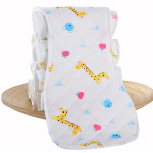 2020 White Baby Cloth Diaper Inserts Liners 3-Layer Ecological Cotton Polyester For Toddlers Ecological Cotton Reusable S L