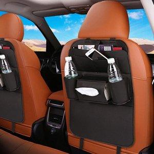 Novo Single Side PU couro multifunções Car Seat preto Voltar Bag Organizador de armazenamento KN9s #