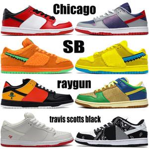 bajas hombre Chicago SB jumpman zapatillas de baloncesto clavada travis Scotts naranja Sumba negro oso pistola de rayos verde azul furia mujeres de los hombres zapatillas de deporte