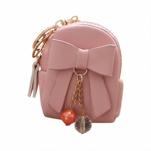 Vintage Drop Shipping Fashion Independent Design Women Bow Pendant Zip Coin Purse Mini Wallet Lady Student Key Bag Coin Purse watH#