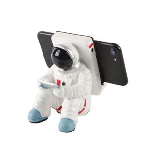 الهاتف المحمول الإبداعي الرف منتجات الراتنج رائد فضاء المنزلية زخرفة الحرف رائد فضاء سطح المكتب قوس الهاتف المحمول