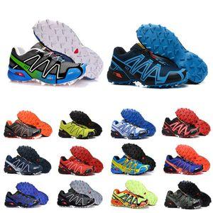 salomon sneakers Hızlı çalışan Ayakkabı SpeedCross 3 III Siyah Yeşil Eğitmenler Erkekler Spor Sneakers scarpe zapatos 40-46 Koşu çapraz 3CS Açık mens Damla nakliye