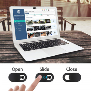 Webcam Cover Shutter Plastic Camera Covers For Tablets IPhone PC Laptops Mobile Phone Lens Privacy Sticker Black