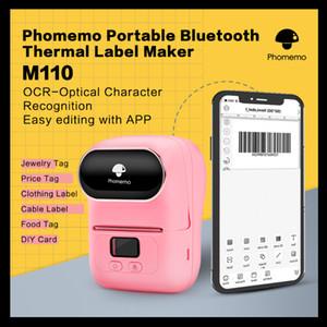 Phomemo M110 Label Maker Thermal Label Bluetooth Portable Imprimante Appliquer Vêtements Bijoux Mailing détail Barcode Photo Printer