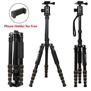 Tripods Zomei Z669 Camera di alluminio Treppiede Pan-Head Staffa con trefodio monopod per DSLR professionale PO Studio