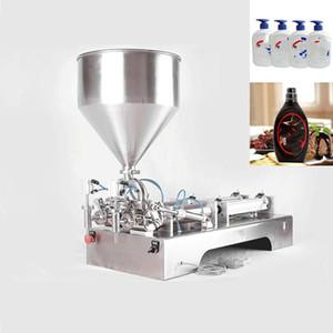 110V 220V l pâte machine de remplissage en acier inoxydable machine de remplissage quantitative pneumatique à double tête coller machine de remplissage pour l'alimentation et chimique