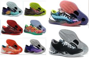 2020 K8 أحذية كرة السلة للرجال أسود مامبا حذاء WTK مقدمة انعكاس سنة الأفعى عيد الميلاد 2012 عيد الفصح الأرجواني البلاتين نجوم 2013