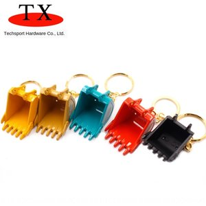 XhEAD 금속 굴삭기 굴삭기 모델 버킷 열쇠 고리 금속 펜던트 선물 펜던트 액세서리 액세서리
