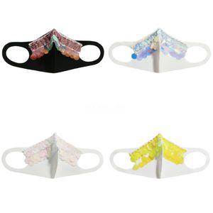 Женщины Девушки Необычные Магия Защитная маска для лица Ночной клуб Показать Блестки Cosplay Party DesignerFace маска # 526