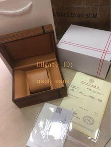 Carré blanc boîte avec certificat Sac fourre-tout en bois portugieser cadeau pour hommes Mesdames CHRONOGRAPHE Boîtes originale montre
