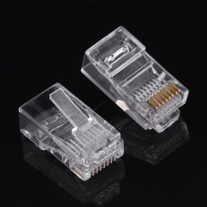 100 Piece  Packs Cat5 Cat5e Network Internet Connector Rj45 8p8c Cable Modular Plug Heads Free Shipping
