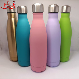 500ML Double Wall 304 Stainless Steel Thermal Flask Fashion Vacuum Thermos Outdoor Portable Sport Thermal Drink Water Bottle Cl200920