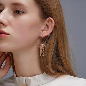 20paris / Lot European New Insekten Ohrringe Haken Goldene Zikade Legierung Ohr Tropfen für Frauen-Damen lange schwarze Ohrringe Schmuck Accessoires