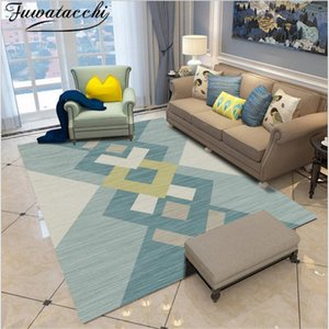 Fuwatacchi Geometric Pattern Carpet Rug For Living Room Bedroom Hallway Home Decor Rug Mats Nordic Patchwrok Floor Rugs Carpets