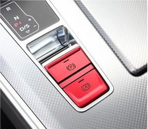 자동차 스타일링 콘솔 기어 전자 수동 브레이크 P 버튼 장식 프레임 커버 트림 스티커 아우디 A6 C8 인테리어 액세서리