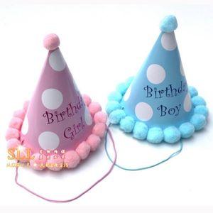 Celebración del partido 10pcs partido lindo sombreros de cumpleaños tapas festivos fotografía de artículos al por mayor Decoración de cumpleaños para niños