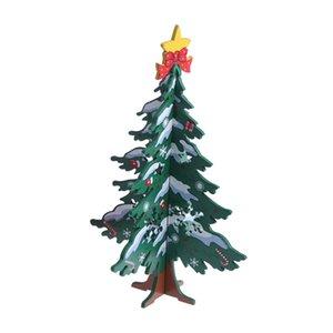 Mini Noel Ahşap Dilimler Ekleme DIY 3D Ağacı Süsleme Bayram Ahşap Craft Süs Hediye Malzemeleri