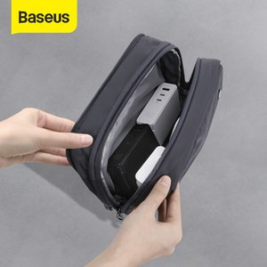 Baseus Waterproof Digital Pouch Cable Storage Bag Charger Wires Organizer Case Double Zipper Bag Travel Electronic Storage Bag